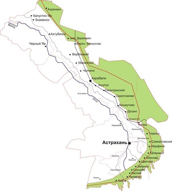 Пограничная зона Астраханской